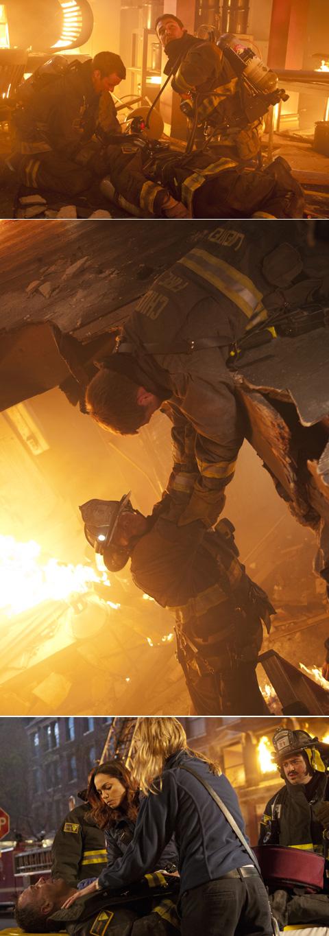 迫力の火災シーン