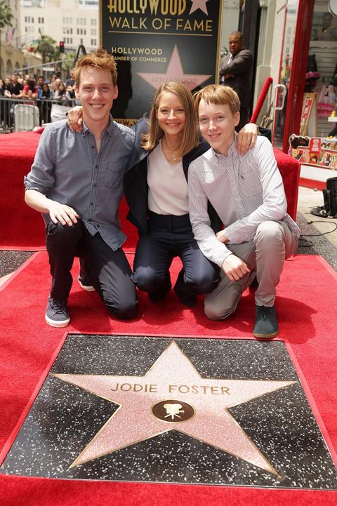 ジョディ・フォスターと息子たち