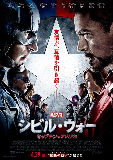 映画「シビル・ウォー/キャプテン・アメリカ」2016年の全世界No.1大ヒットを記録! 日本でも興行収入20億円を突破
