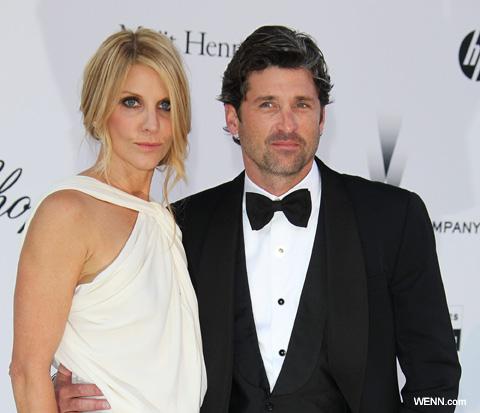 パトリック・デンプシー(右)と妻のジリアン・デンプシー(左)(2011年5月撮影)
