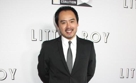 ロサンゼルスで開催された映画「リトル・ボーイ  小さなボクと戦争」プレミアでの尾崎英二郎 (2015年4月)