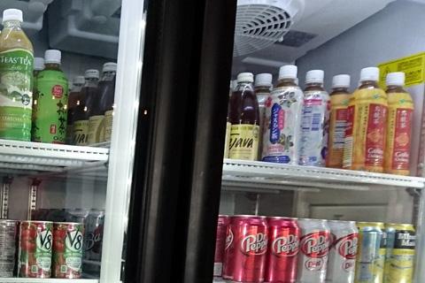 冷蔵庫に並ぶ日本語