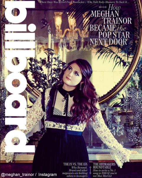 メーガン・トレイナーが飾った、Billboard誌のカバー