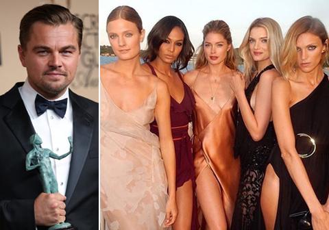 レオナオルド・ディカプリオが、チャリティー・パーティーを主催! 美女モデルたちのおかげで約50億円の寄付金が集める