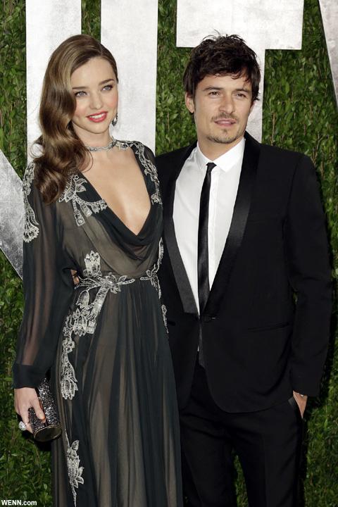 結婚当時のオーランド・ブルームと、ミランダ・カー 2013年2月撮影