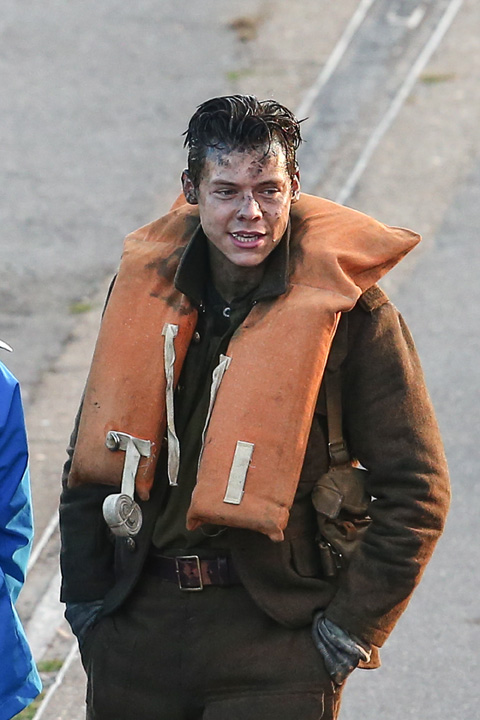 「Dunkirk」撮影中のハリー・スタイルズ