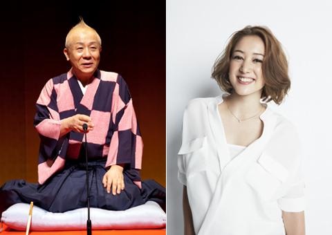 春風亭小朝(左)、SHELLY