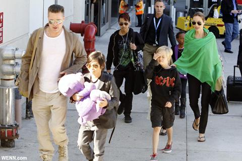 ブランジェリーナ夫妻と子どもたち 2014年2月撮影