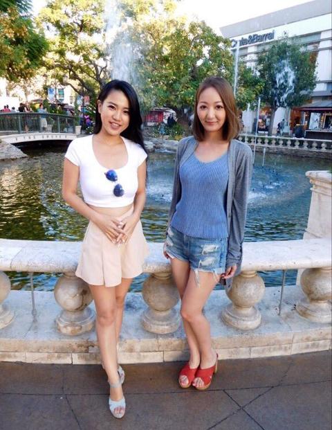 山咲こむぎ(左)と、加藤優花