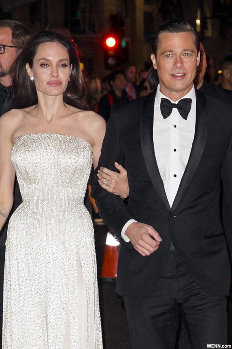 アンジェリーナ・ジョリーとブラッド・ピット 2015年11月撮影