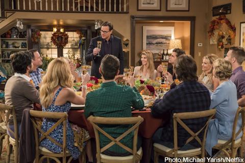 感謝祭に家族が勢ぞろい