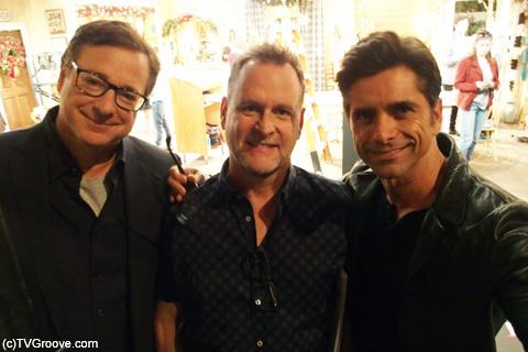 (左から)ダニー役ボブ・サゲット、ジョーイ役デイヴ・クーリエ、ジェシー役ジョン・ステイモス