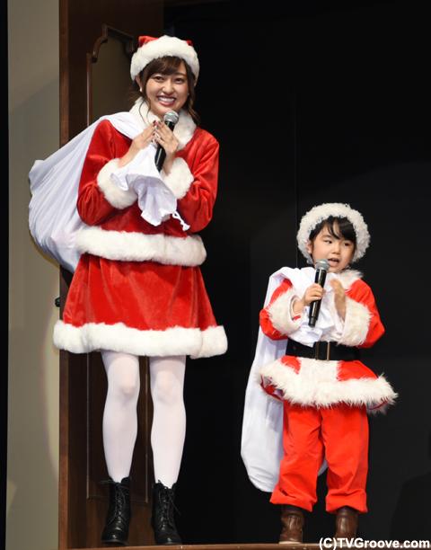 ファン代表として登壇した、菊地亜美と寺田心