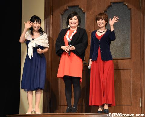 (左から)伊藤美紀、坂本千夏、大谷育江