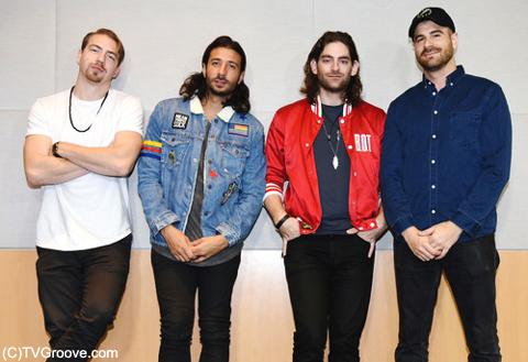 マジック! (左から)アレックス、ナズリ、ベン、マーク