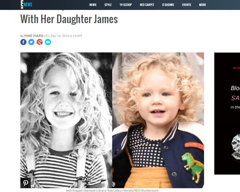 幼少期のブレイク(左)とジェームズちゃん(右)