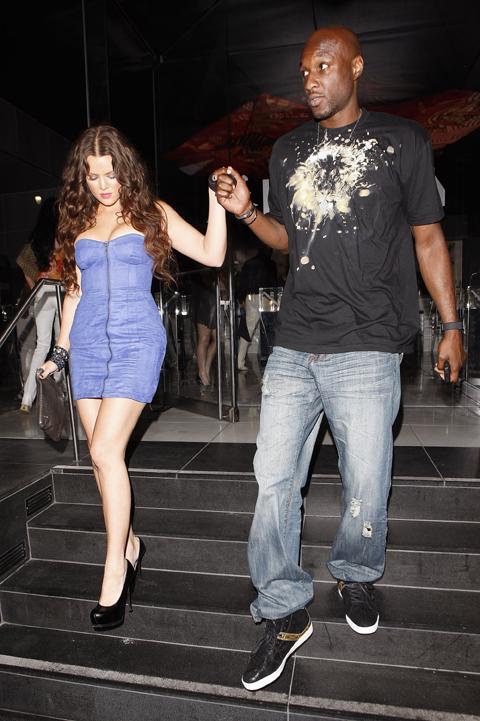 クロエ・カーダシアン(左)、ラマー・オドム(2009年9月撮影)