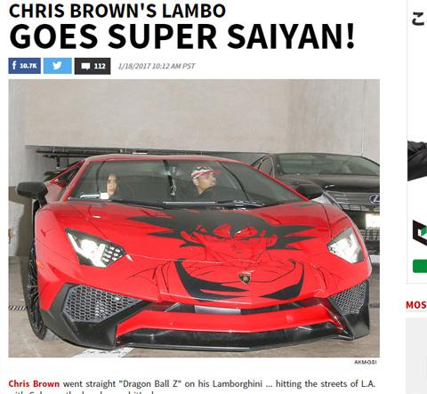 """クリス・ブラウンの""""痛車""""が公開! ランボルギーニ×ドラゴンボールで最強コラボ!?[写真]"""