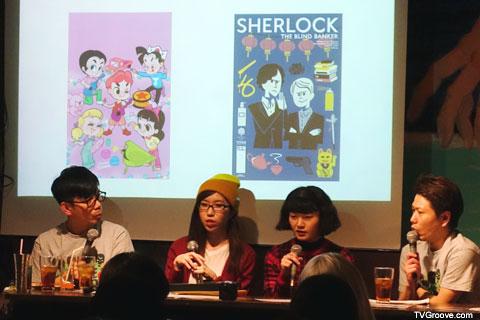 左から竹若さん、QUESTION No.6さん、まつむらあさみさん、修士さん