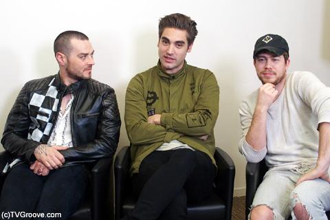 (左から)マット、チャーリー、ジェイムス