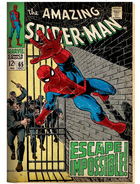 「アメイジング・スパイダーマン」#65(1968 年) 原画
