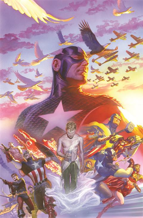 「キャプテン・アメリカ」 #22(2014 年) 75 周年カバー・アート