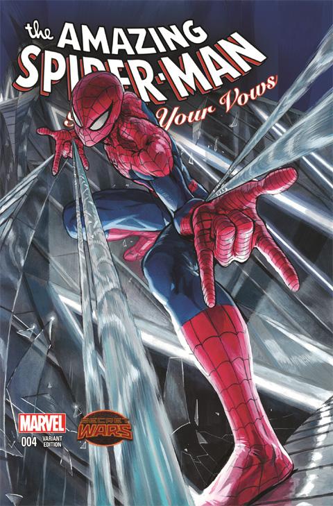 「アメイジング・スパイダーマン: リニュー・ユア・バウズ」 #4(2015 年) マンガ・バリアント・カバー・アート