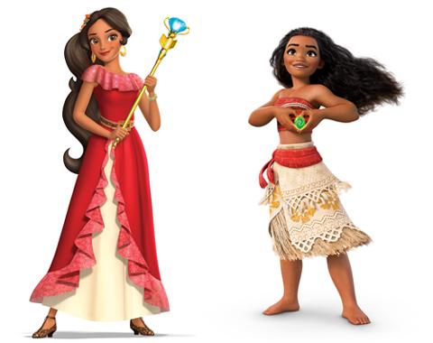 エレナ(左)、モアナ