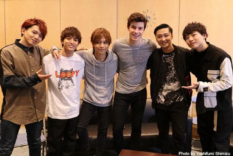 Da-iCEのメンバーとショーン