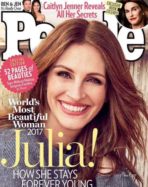 ジュリア・ロバーツ、「世界一美しい女性」に選ばれる! 史上初5度目の受賞