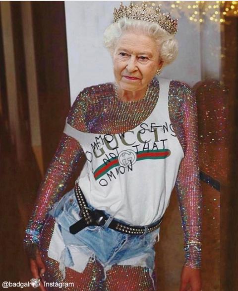 リアーナ、エリザベス女王と自分の写真を合成! 不謹慎な写真の連続に批判殺到[写真]