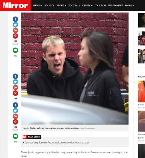 ジャスティン・ビーバー、通りがかりの女性を怒鳴りつける! いったい何が起こったの?