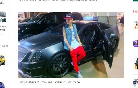「キャデラック CTS-V クーペ(「Cadillac CTS-V Coupe a.k.a. the Batmobile)」
