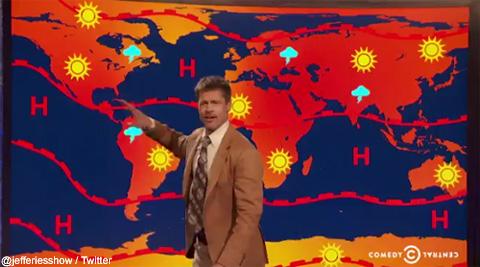 ブラッド・ピットが天気予報士に!? トランプ大統領のパリ協定離脱を批判[動画あり]