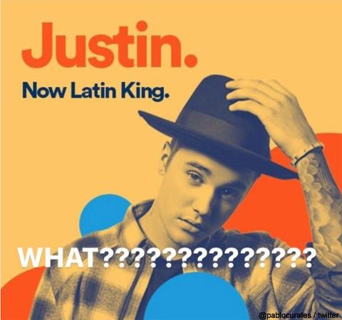 Spotify広告のジャスティン・ビーバー