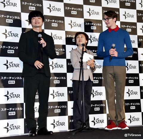 福山潤(左)、アイザック・ヘンプステッド=ライト(右)