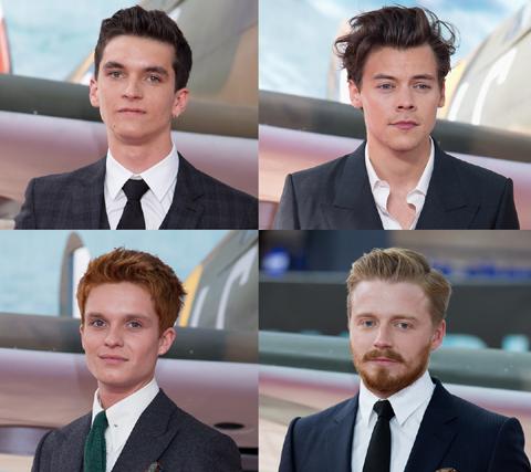 (左上から時計回りに)フィオン・ホワイトヘッド、ハリー・スタイルズ、ジャック・ロウデン、トム・グリン=カーニー