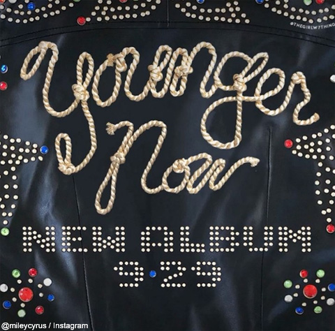 マイリ―・サイラス、ニューアルバム「Younger Now」を来月29日にリリース