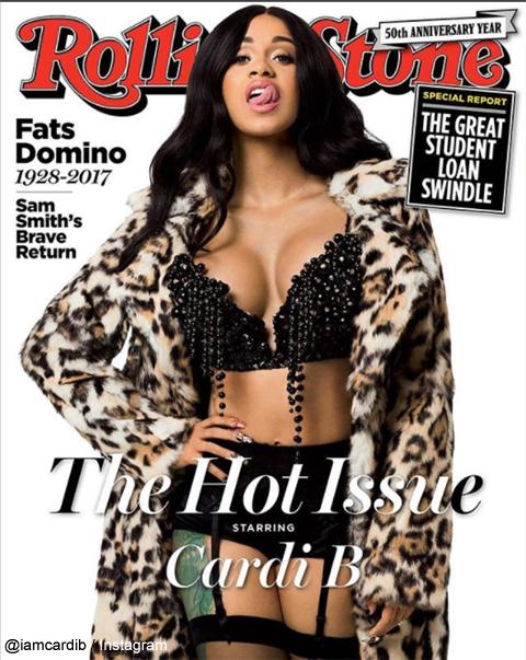 「Rolling Stone」の表紙を飾るカーディ・B