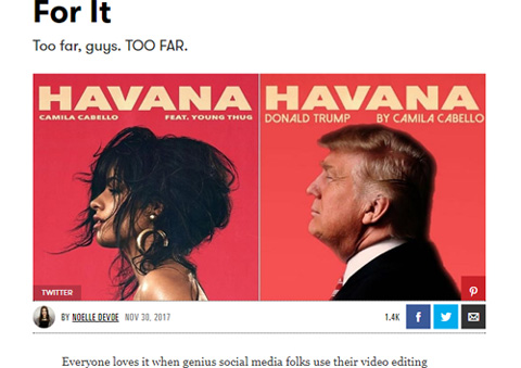 カミラ・カベロの「Havana」をカバーした(!?)トランプ大統領
