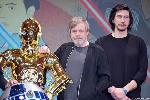 マーク・ハミル(左)、アダム・ドライバー