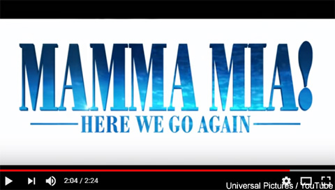 「Mamma Mia! Here We Go Again」予告編より