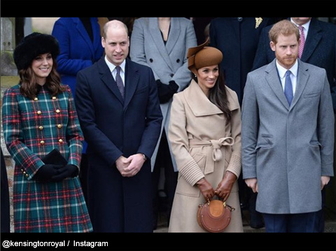 メーガン・マークルと英ヘンリー王子、ウィリアム王子、キャサリン妃夫妻と
