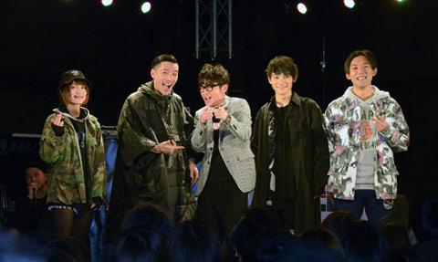 MIRI(RHYMEBERRY)、Zeebra、藤森慎吾、SKY-HI、KEN THE 390(右)