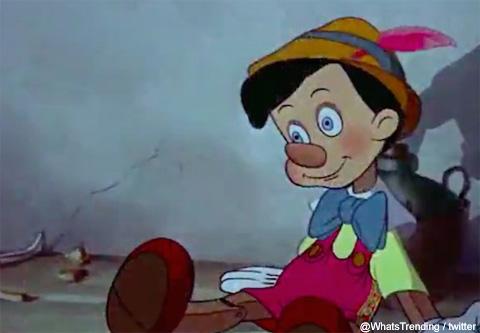 ダークなツイートに使用されたピノキオの画像