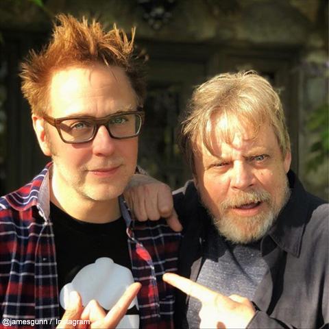 ジェームズ・ガンと、ルーク・スカイウォーカーことマーク・ハミル