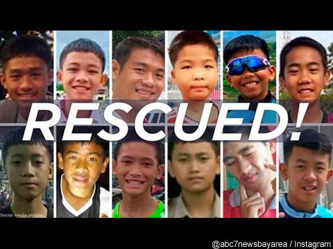 無事に救出された12人の少年たち