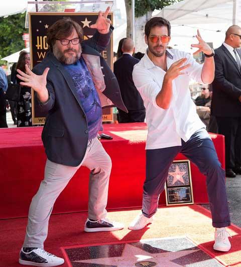 ジャック・ブラック(左)、イーライ・ロス監督