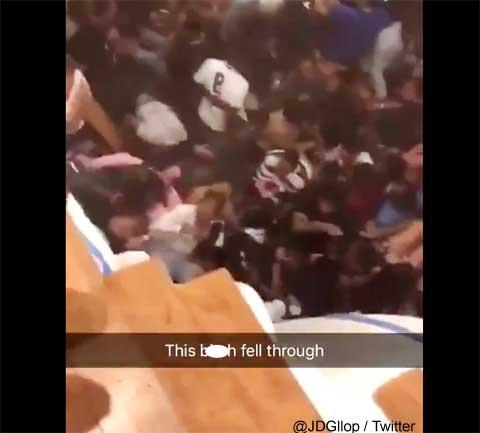 恐怖! ダンスパーティーで床が抜け学生らが落下、30人負傷、悲鳴飛び交いパニックに[動画あり]