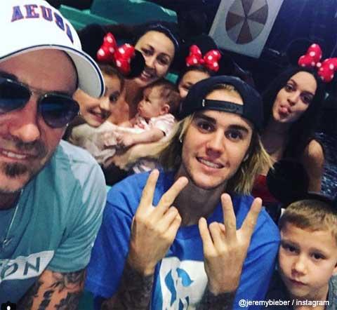 ジャスティン・ビーバーと家族